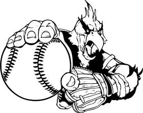 Baseball Cardinals Mascot Decal / Sticker