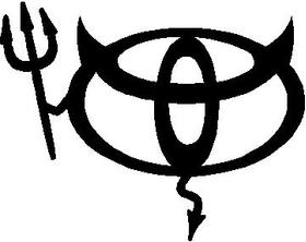 Toyota Devil Decal / Sticker