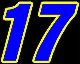 17 Race Number 2 COLOR Decal / Sticker