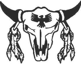 Bull Skull 04 Decal / Sticker
