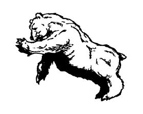 Bear Scratching Mascot Decal / Sticker