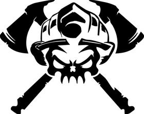 Firefighter Skull Decal / Sticker 02