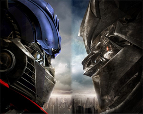 Optimus Prime VS. Megatron Decal / Sticker 01
