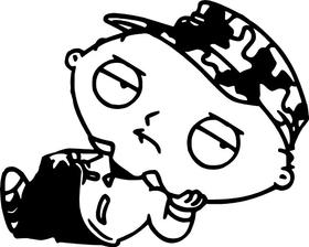 Stewie Griffin Decal / Sticker 04