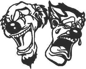 Clowns Comedy - Tragedy Decal / Sticker
