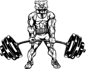 Weightlifting Cougars / Panthers Mascot Decal / Sticker 2