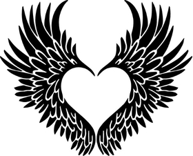 Heart Wings Decal / Sticker 08