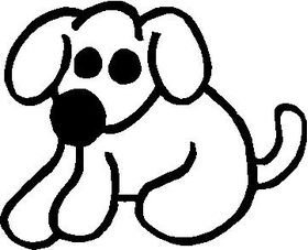 Dog Stick Figure Decal / Sticker 03