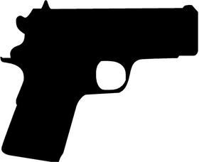 1911 Compact Gun Decal / Sticker