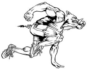 Track and Field Razorbacks Mascots Decal / Sticker 3