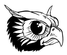 Owls Mascot Decal / Sticker 5