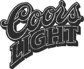 Coors Light Decal / Sticker 05
