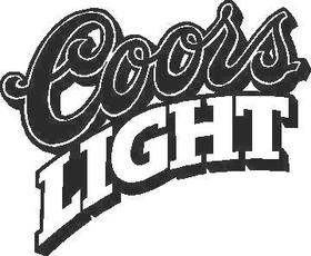 Coors Light Decal / Sticker 04