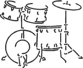 Drums 02 Decal / Sticker