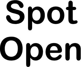 Spot Open Stick Figure Decal / Sticker