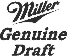 Miller Genuine Draft Decal / Sticker