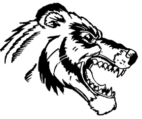 Wolverines / Badgers Mascot Decal / Sticker 3