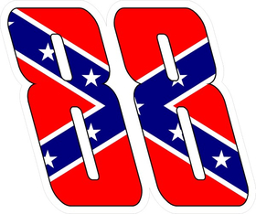 88 Confederate Flag My Puma Font Decal / Sticker 01