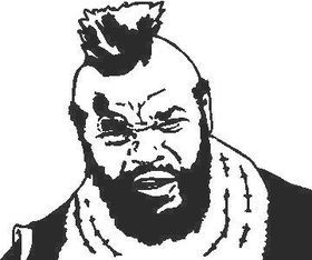 MR. T Decal / Sticker