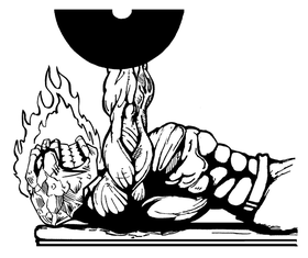 Weightlifting Comets Mascot Decal / Sticker 6