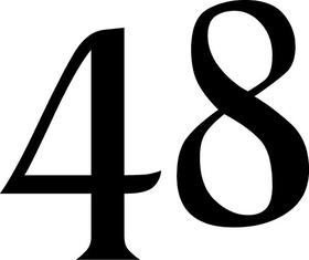48 Decal / Sticker d