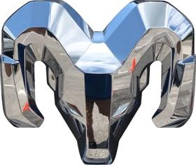 Simulated 3D Chrome Ram Decal / Sticker 46