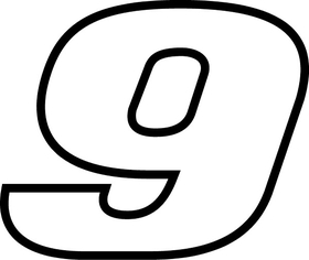 9 Race Number Decal / Sticker l