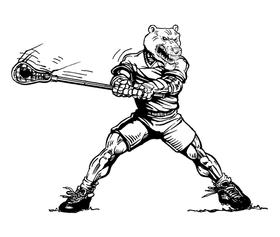 Lacrosse Bears Mascot Decal / Sticker 3