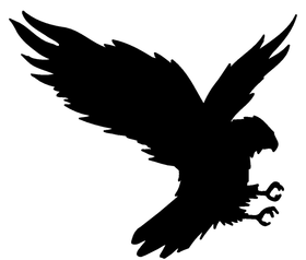 Hawks / Falcons Full Mascot Decal / Sticker 1