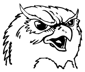 Owls Mascot Decal / Sticker 6