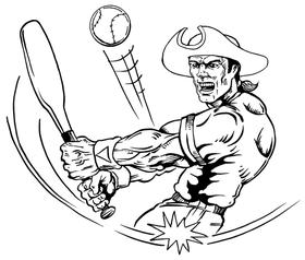 Baseball Patriots Mascot Decal / Sticker 1