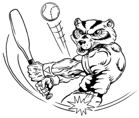 Baseball Wolverines / Badgers Mascot Decal / Sticker 1