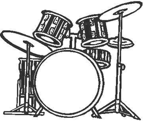 Drums Decal / Sticker