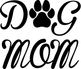 Dog Mom Decal / Sticker 04
