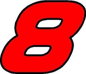 8 Race Number AF Pespi Font 2 Color Decal / Sticker