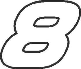 8 Race Number AF Pespi Font Decal / Sticker