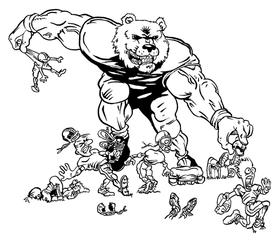 Football Bear Mascot Decal / Sticker 18