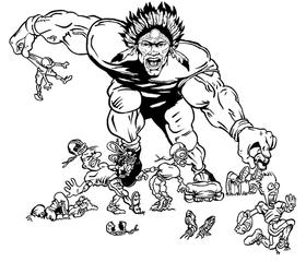 Football Braves / Indians / Chiefs Mascot Decal / Sticker fb02