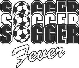 Soccer Fever Decal / Sticker