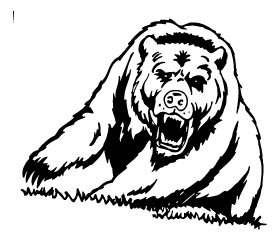 Growling Bear Mascot Decal / Sticker