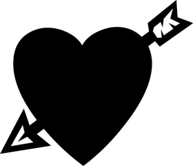 Heart with Arrow Decal / Sticker 14