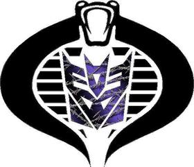 Cobra Commander Decepticon Purple Barbed Wire Decal / Sticker