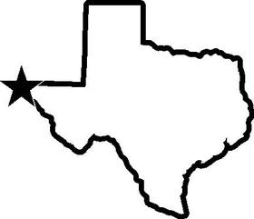 Texas Decal / Sticker 01