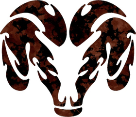 Simulated Rusted Ram Decal / Sticker