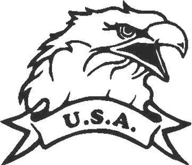 Eagle Decal / Sticker 07