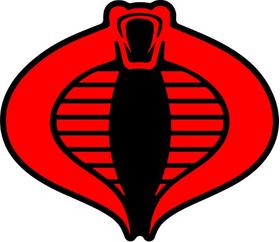 Cobra Commander Decal / Sticker 06