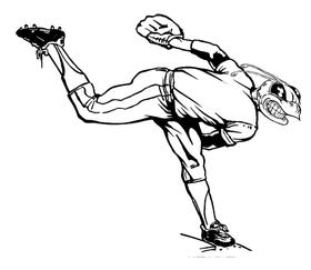 Baseball Pitcher Hornet, Yellow Jacket, Bee Mascot Decal / Sticker