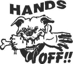 Hands Off Decal / Sticker