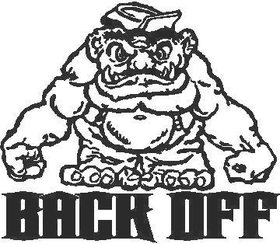Back Off 1 decal / sticker
