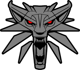 The Witcher Wolf Decal / Sticker 04